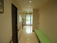 中待合室からエントランス方向 ここもまた自然光を多く取り入れています